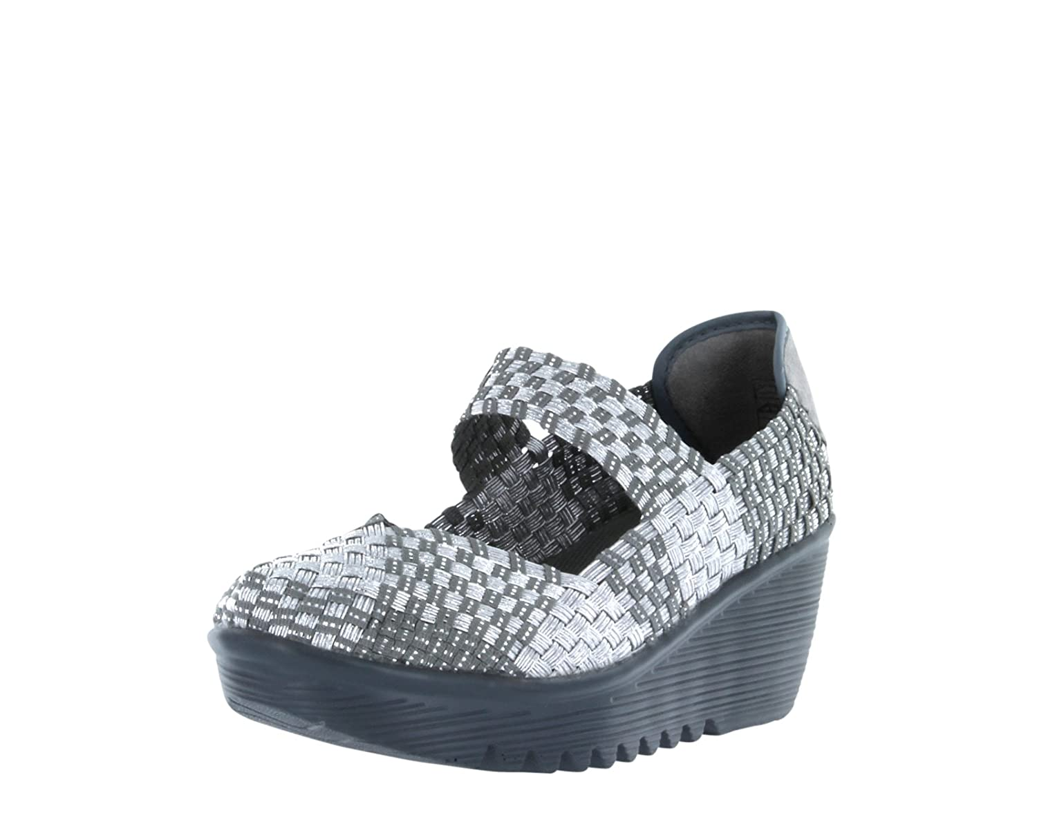 Silver Bernie Mev Women's Lulia Wedge Pump