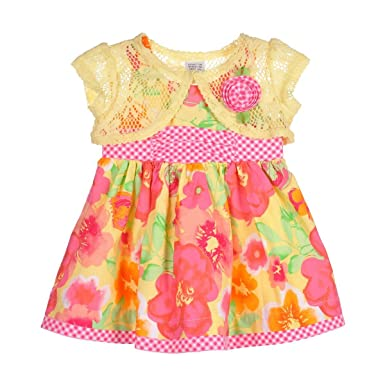 7c8feb726 Amazon.com  Youngland Baby Girls  2 Piece Embroidered Dress with ...