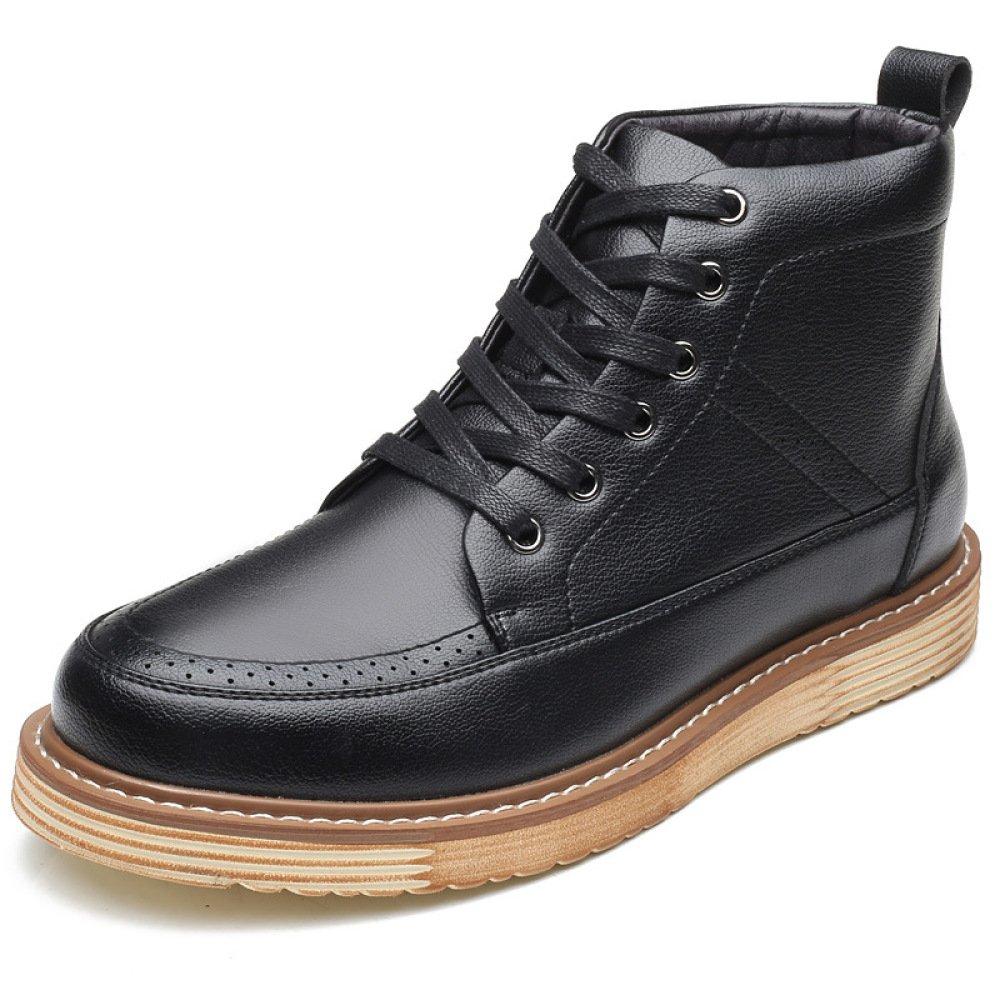 Koyi Los Zapatos De Los Hombres De Moda Cálida De Invierno De Alta para Ayudar A La Tendencia Retro Martin Botas De Los Hombres Británicos Botas Cortas Antideslizantes Resistente Al Desgaste 44 EU Black