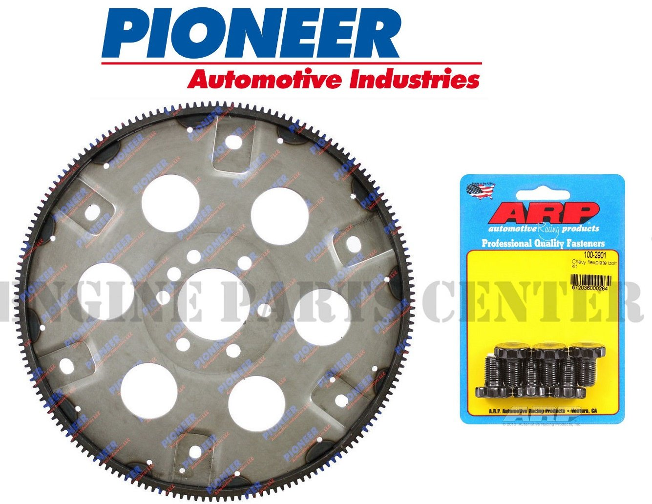 NEW Automatic Transmission 168 tooth Flexplate+ HP BOLTS compatible with Chevy 383 400 External (Flywheel + Bolts)