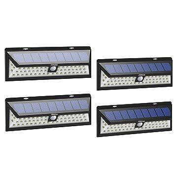 Mpow Foco Solar Exterior, Luz Solar Jardín 54 LED, Gran Ángulo 120°,
