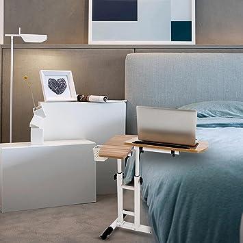 Utheing - Mesa de escritorio para portátil, altura ajustable, con ruedas para sofá de cama: Amazon.es: Oficina y papelería