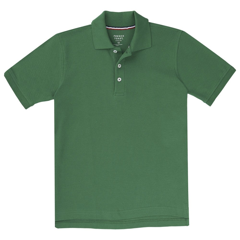 French Toast Big Boys' Short Sleeve Pique Polo, Bright Green, X-Large/14/16