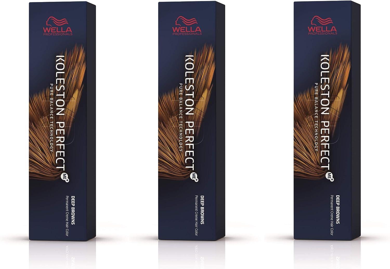 Wella Koleston Perfect Me+ KP Deep Brown 7/7 - Pack de 3 unidades, color rubio medio marrón
