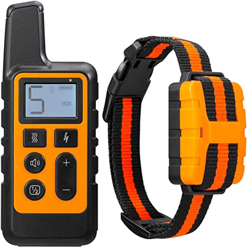 Dog Training Collar, Rechargeable Dog Shock Collar with Remote 3 Training Modes, Up to 2600Ft Remote Range Dog Barking Collar