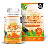 Organic Turmeric 600mg with Curcumin & Organic Black Pepper | 120 Clear Veg Capsules (Suitable For Vegetarians) | SOIL ASSOCIATION Organic Certified & Made in the UK