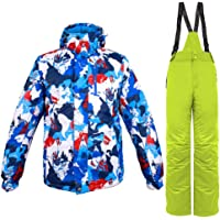 Gdtime Chaqueta de Esquí para Hombre + Pantalón