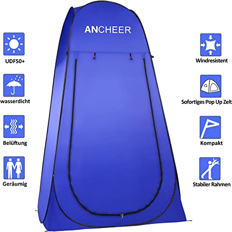 ANCHEER Pop Up Tent Portable Camping Shower Tent Toilet Tent for Outdoor Beach Camping Dressing Fishing Bathing