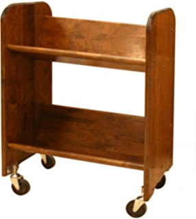 catskill craftsmen bookmaster rack with tilted shelves walnut stained birch