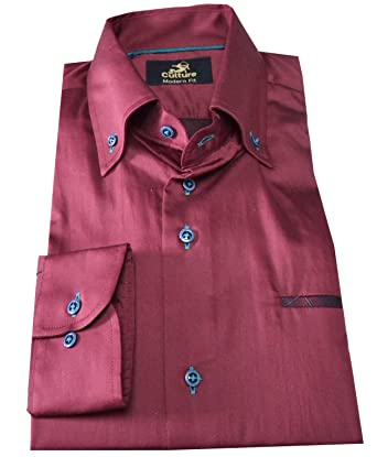 Culture - Camisa casual - para hombre burdeos 58: Amazon.es: Ropa ...