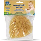 "Baby Buddy Natural Baby Bath Sponge 4"" Soft Yellow Sea Sponge Soft on Baby's Tender Skin, Biodegradable, Hypoallergenic…"