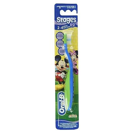 Oral-B - Cepillo de Dientes Infantil Stage 2 (De 2 - 4 Años): Amazon ...