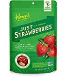 Karen's Naturals Just Strawberries, 4 Ounce Pouch All Natural Freeze-Dried Fruits & Vegetables, No Additives or Preservatives, Non-GMO