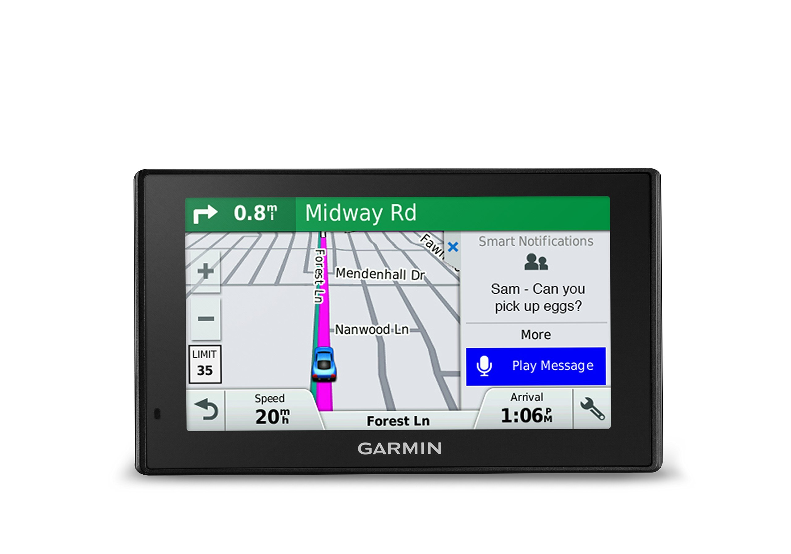 Garmin DriveSmart 51 NA LMT-S with Lifetime Maps/Traffic, Live Parking, Bluetooth,WiFi, Smart Notifications, Voice Activation, Driver Alerts, TripAdvisor, Foursquare (Certified Refurbished)