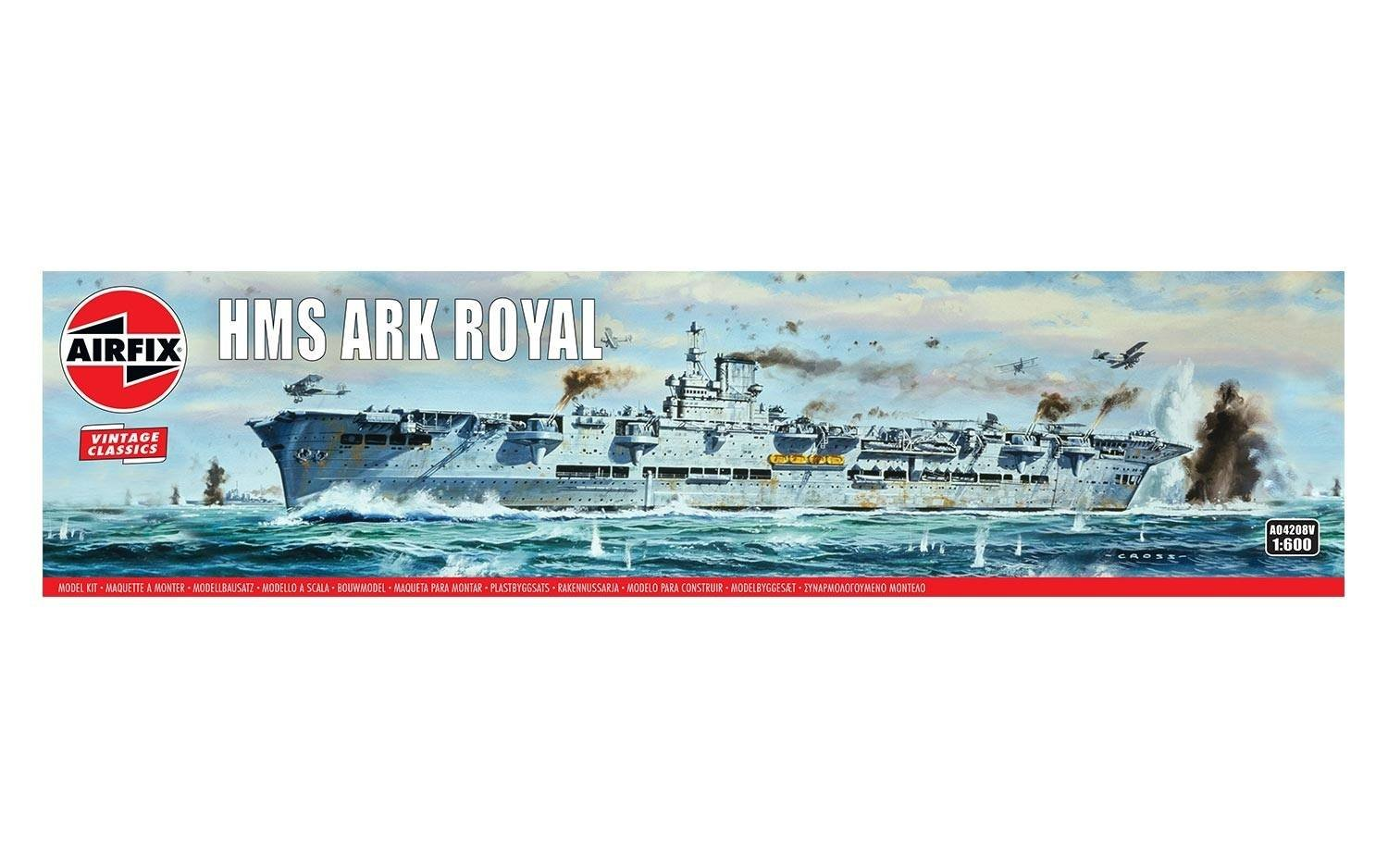 Amazon.com: Airfix HMS Ark Royal 1:600 Vintage Classics ...