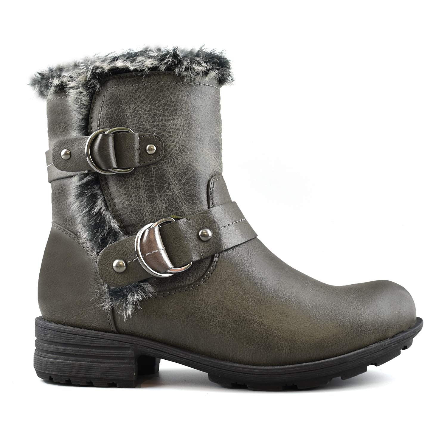 Comfy Moda Women's Winter Boots 3M Thinsulate Memory Foam Super Warm Comfy Wide Fitting Size 12 Available - Meghan (9, Smokey Grey)