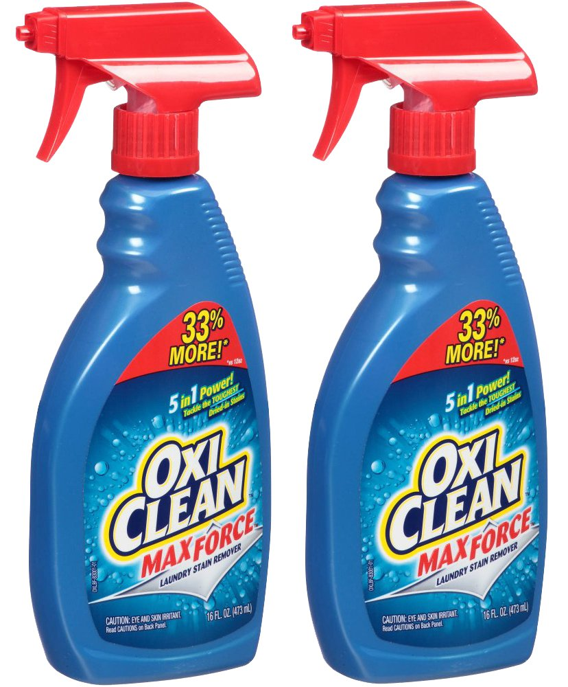 OxiClean Max Force Laundry Stain Remover Spray 16 Ounce - 2 pack