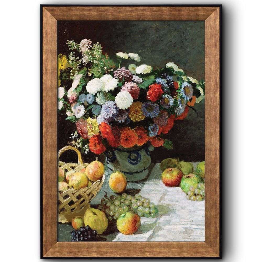 Still Life with Flowers and Fruit by Claude Monet (No Signature ...