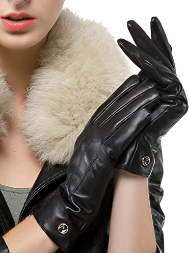 Nappaglo Men Lambskin Winter Warm Driving Leather Gloves//Pure Cashmere Lining