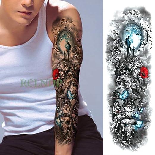 tzxdbh 3Pcs-Impermeable Etiqueta engomada del Tatuaje Temporal del ...