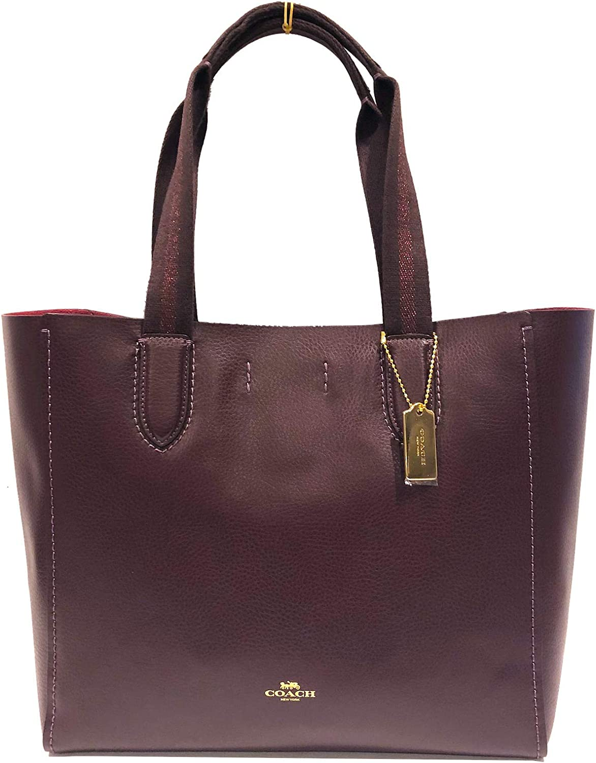COACH DERBY TOTE IN PEBBLE LEATHER