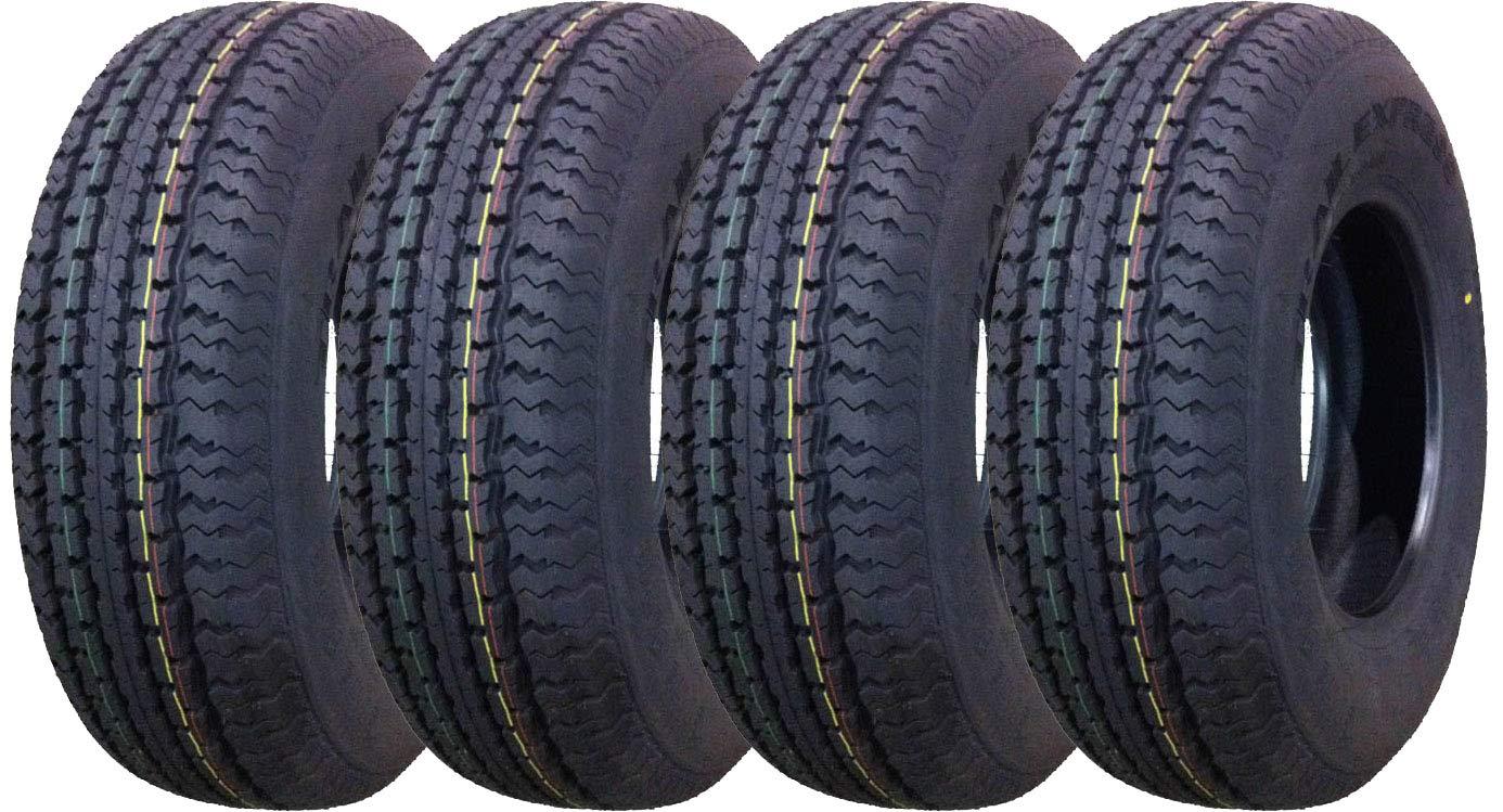 Set of 4 New Premium Trailer Tires ST 175/80R13 6PR Load Range C- 11011