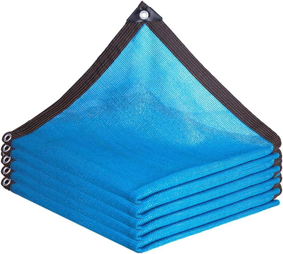 Outdoor Sunshade Net Plant Sunscreen Mesh Balcony Courtyard, with Grommets Sun-Block Mesh Shade for Pergola Cover Canopy, Blue,6M10M