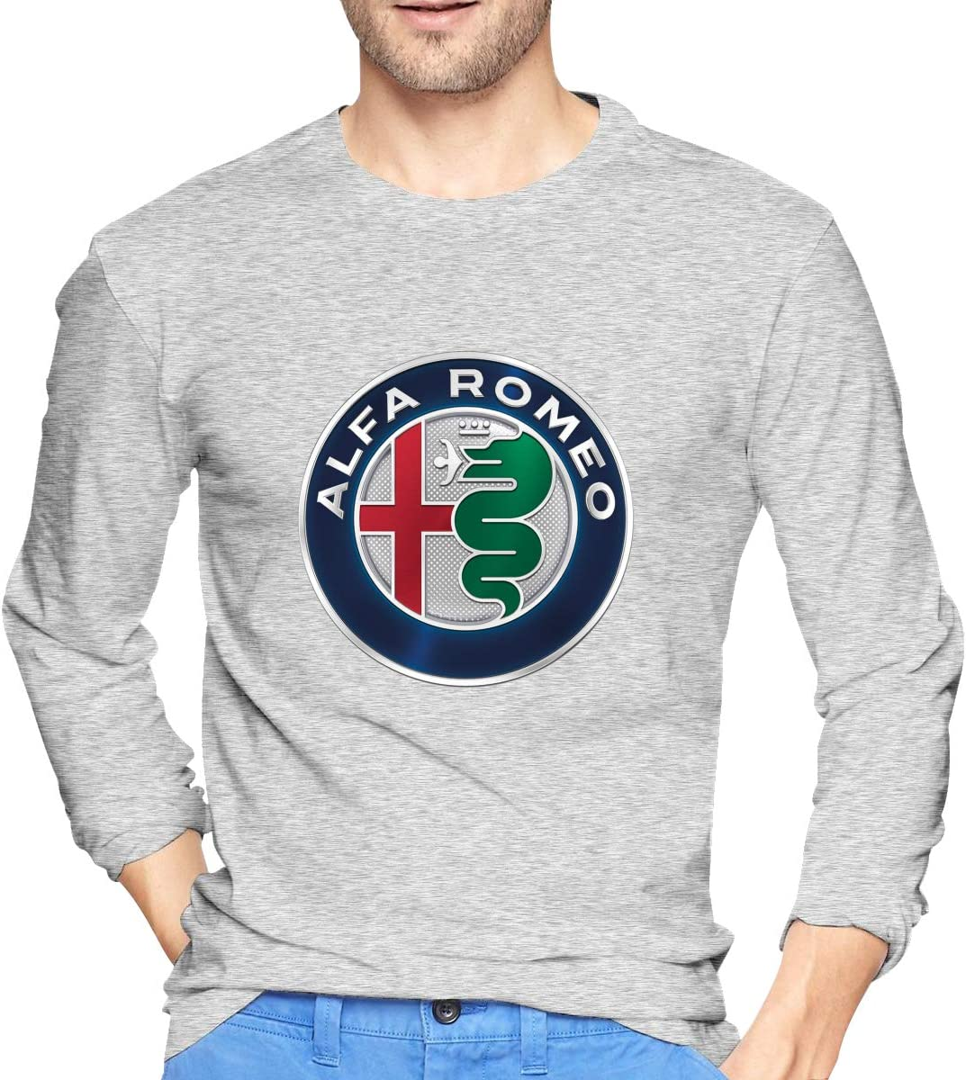 POP-Front Mens T-Shirts Al-FA Ro-meo Long Sleeve Raglan Baseball Tees 71hAwbTXQfL