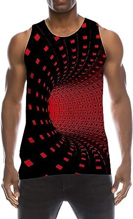 TUONROAD Camiseta de Tirantes Deportes para Hombre 3D Tops Camisa sin Mangas Chaleco Verano T Shirt Fitness S-XXL: Amazon.es: Ropa y accesorios