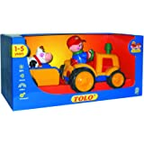 Tolo - 89746 - Le tracteur et sa remorque avec personnages (fermier + vache)