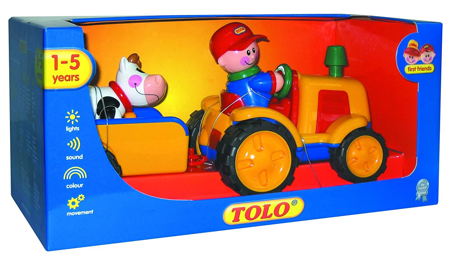 Tolo Toys First Friends Tractor Trailer Toys Games