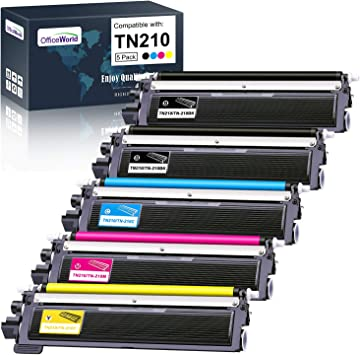 HiServicer 4 Pack Compatible Toner Replacement for Brother TN210 TN-210 TN-210BK TN-210C TN-210M TN-210Y use with HL-3040CN HL-3045CN MFC-9120CN MFC-9125CN MFC-9320CW HL-3070CW HL-3075CW MFC-9010CN