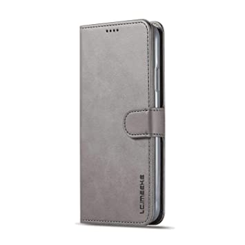 PU Leather Flip Cover Compatible with iPhone 11 Gray Wallet Case for iPhone 11