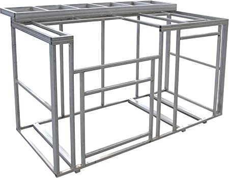Cal Flame KD-F6016 6\' Outdoor Kitchen Island Frame Kit with bar top DIY  (77\'\' Wide X 20\'\' DEEP X 47\'\' Tall (184 LBS.)