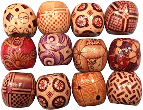 500Pcs Vintage Barrel Wooden Beads Charms for Macrame Jewelry Crafts Making