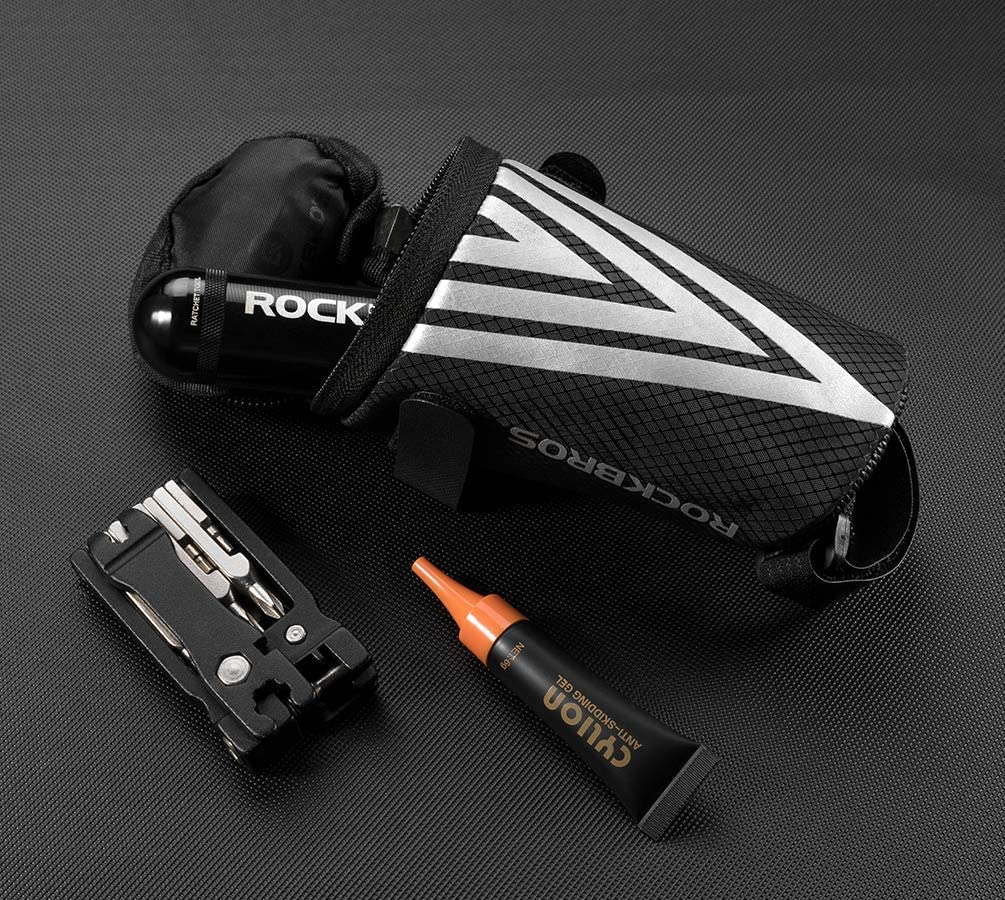 ROCK BROS Bike Saddle Bag Bicycle Under Seat Packs Cycling Pouch Wedge for Road Mountain MTB Foldable Bike