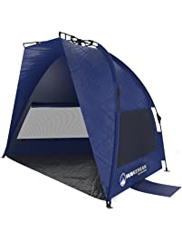 Pop Up Beach Tent- Sun Shelter for Shade with UV Protection, Water and Wind Resistant, Instant Set Up and Carry Bag By...