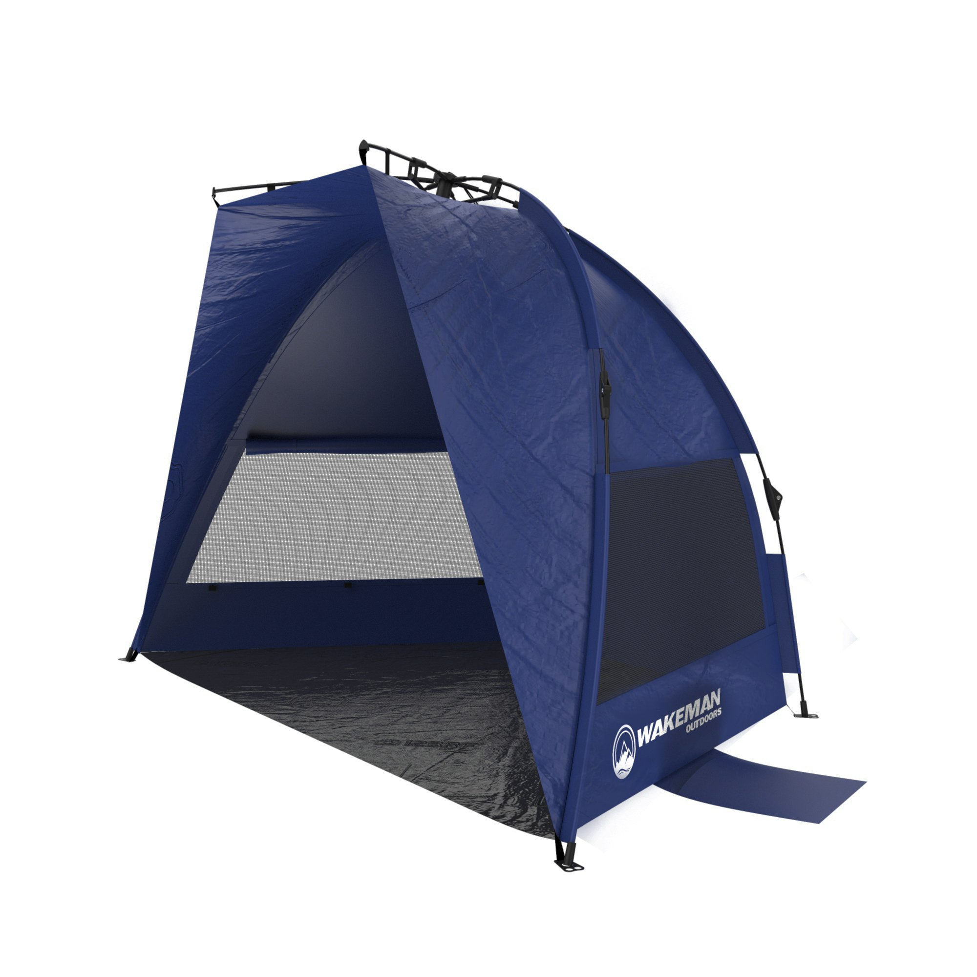 Wakeman Pop up Beach Tent- Sun Shelter for Shade with UV Protection, Water and Wind Resistant, Instant Set up and Carry Bag Outdoors (Blue)