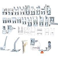 Roloiki 32pcs Calcador Conjunto de Peças e Acessórios para Máquinas de Costura Domésticas Pé de Costura Máquina de…