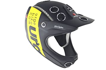 Urge Down-O-Matic Band - Casco de motocross negro negro/amarillo Talla