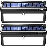 LUSCREAL Solar Motion Sensor Lights Outdoor, (2 Pack), 3.7V