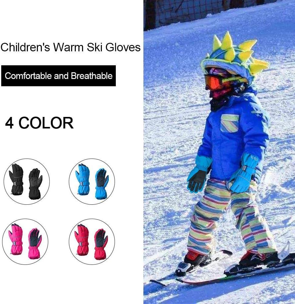 Gants de Ski imperm/éables Coupe /à Cinq Doigts pour gar/çons dhiver gaeruite 1 Paire de Gants de Ski pour Enfants