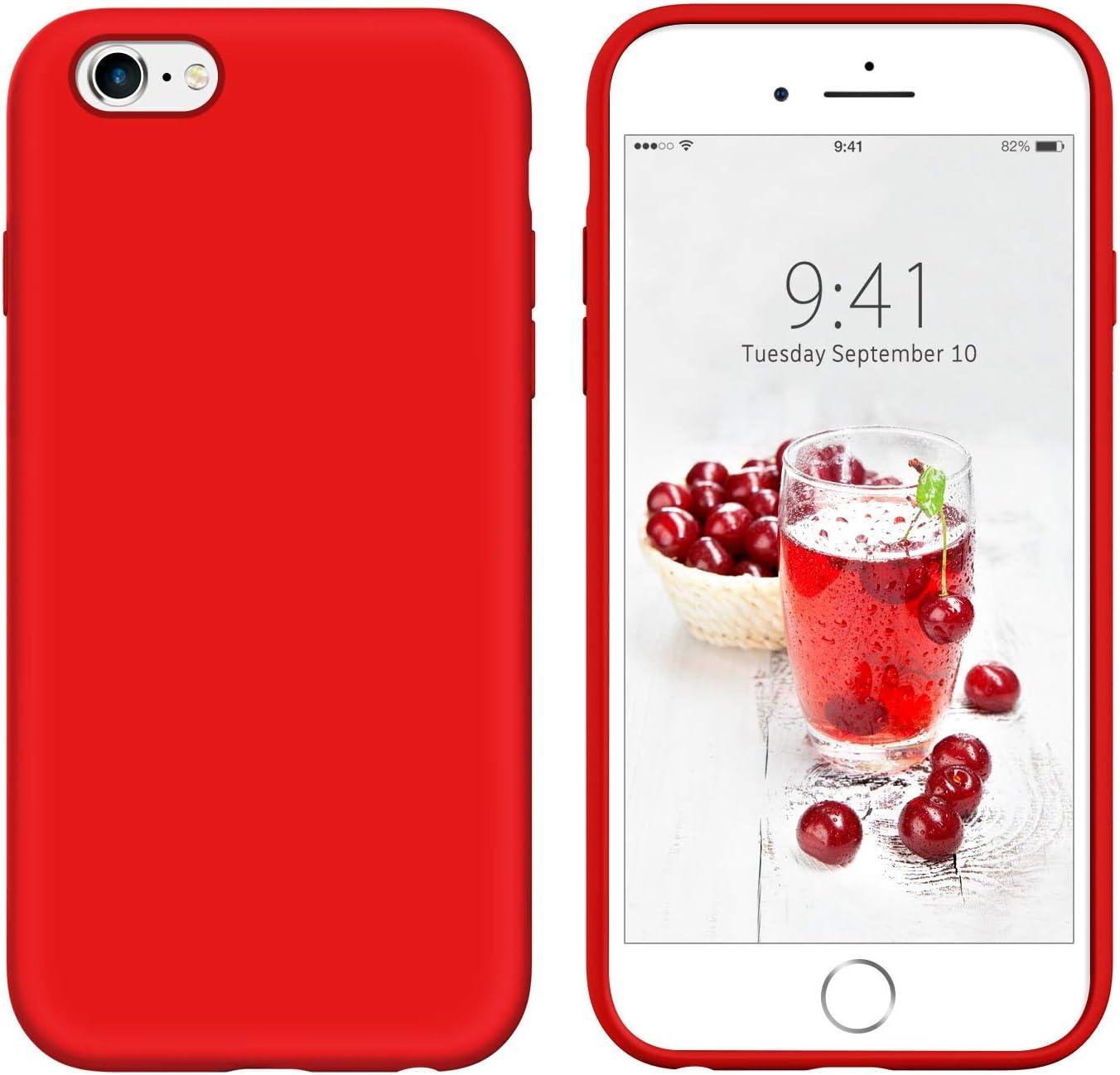 YINLAI iPhone 6S Plus Case iPhone 6 Plus Case Slim Soft Liquid Silicone Gel Rubber Cover Microfiber Cloth Hybrid Hard Back Non Slip Grip Protective ...