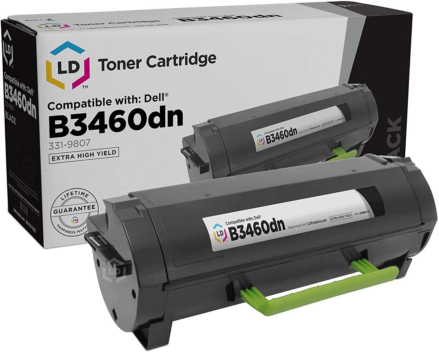 LD Compatible Toner Cartridge Replacement for Dell B3460 331-9807 Extra High Yield (Black)