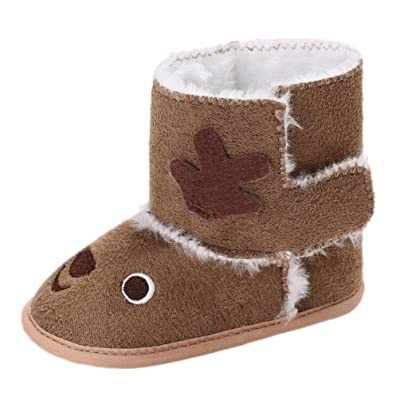 Baby Shoes, Efaster Toddler Autumn Winter Christmas Reindeer First Walkers Boots