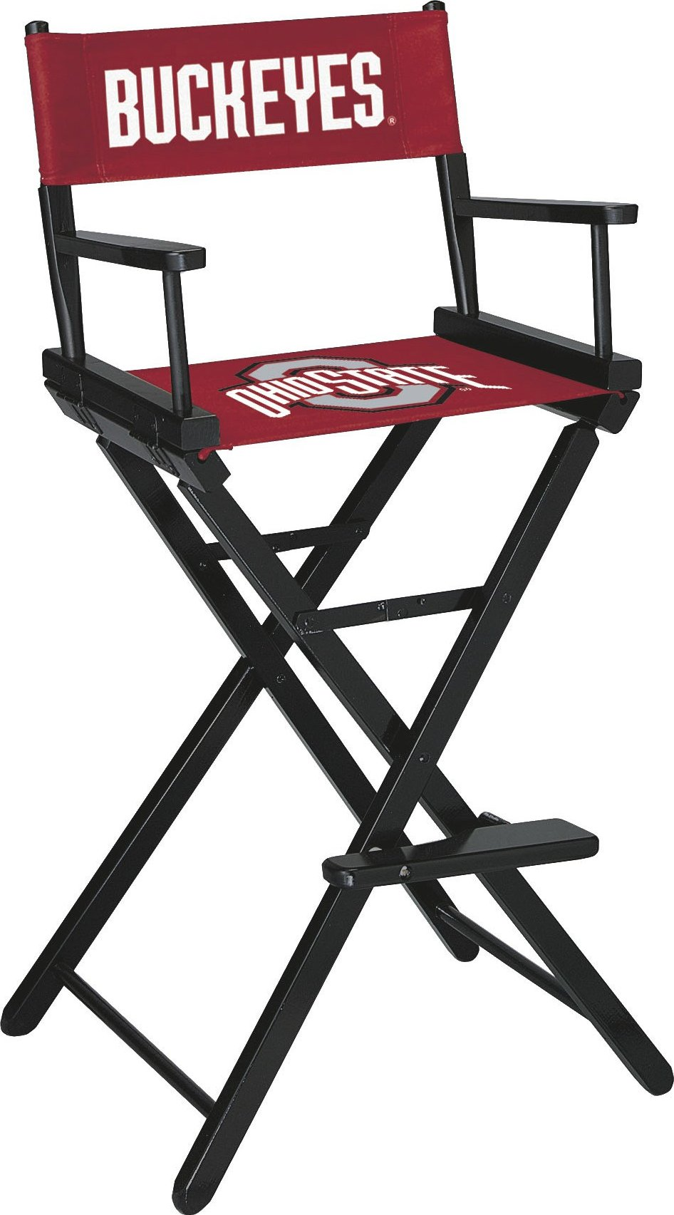 Imperial Officially Licensed NCAA Merchandise: Directors Chair (Tall, Bar Height), Ohio State Buckeyes