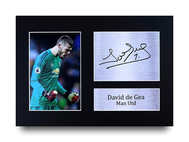 David Beckham PRINT Manchester United PRINTED SIGNED AUTO A4 PHOTO MOUNT