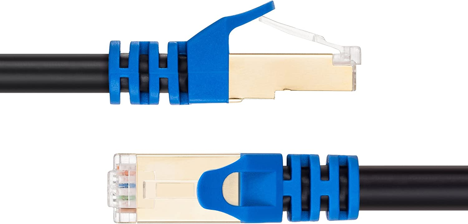 Cat 7 Ethernet Cable LiuTian Nylon Braided 10ft CAT7 High Speed Professional Gold Plated Plug STP Wires CAT 7 RJ45 Ethernet Cable 3ft 10ft 16ft 25ft 30ft 50ft 65ft 100ft 150ft Blue 10ft