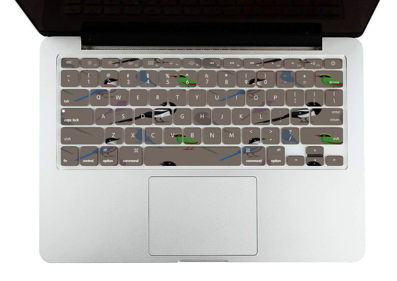 Laptop Case MacBook Pro Spring Cute Hummingbirds Flowers Plastic Hard Shell Compatible Mac Air 11 Pro 13 15 Laptop Shell Case Protection for MacBook 2016-2019 Version