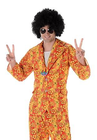Groovy Suit Jacket Trousers Funky Hippie 60/'s 70/'s Mens Fancy Dress Costume